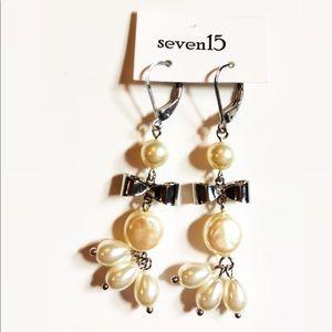 Cream Pearl Drop Earrings